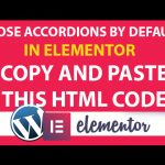 How to close by default the accordion in Elementor